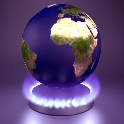 Click the globe.